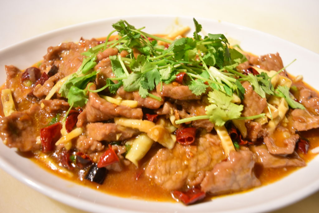92. Sliced Beef in Hot & Spicy Gravy 水煮牛