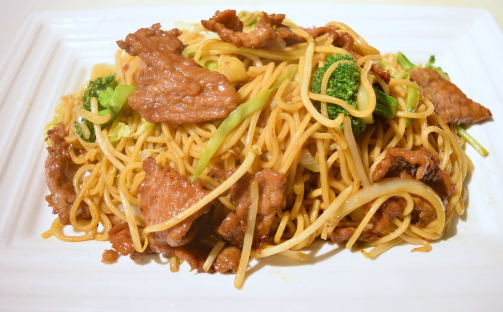 38. Beef Chow Mein 牛肉炒面