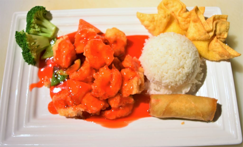 L42.	Sweet & Sour Prawn 甜酸蝦