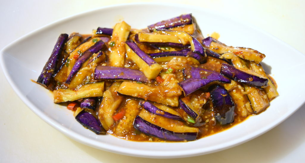 111. Eggplant w/ Hot Garlic Sauce 魚香茄子