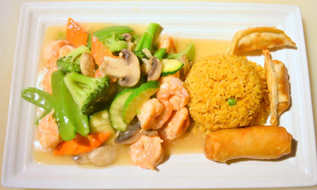 D35. Vegetable Prawns素菜虾