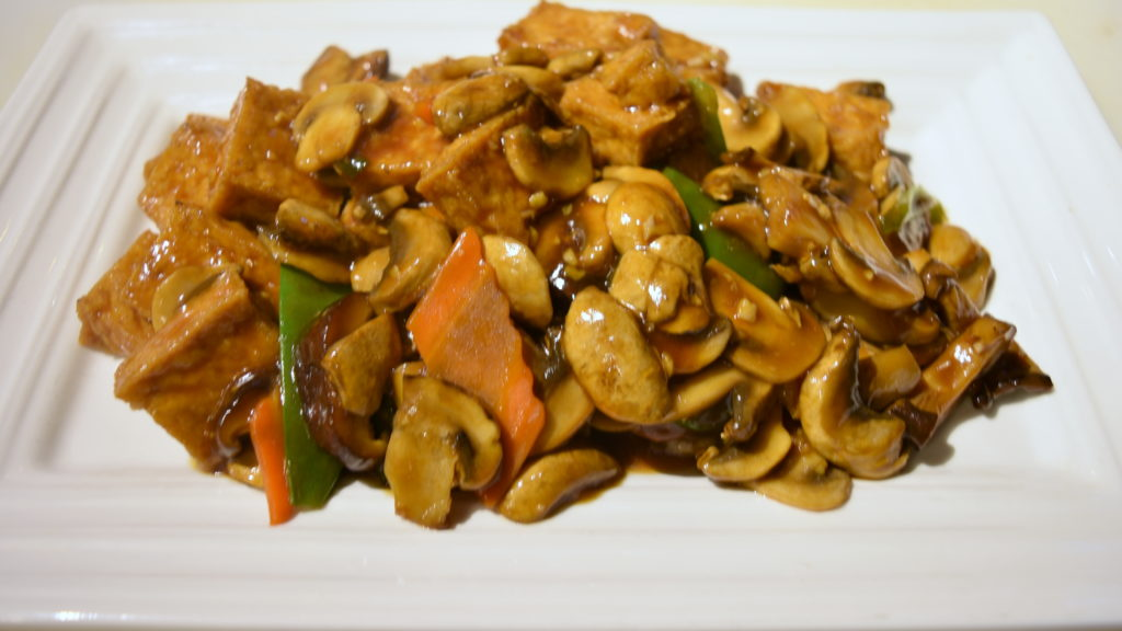 113. Double Delight Mushrooms Tofu 雙菇豆腐