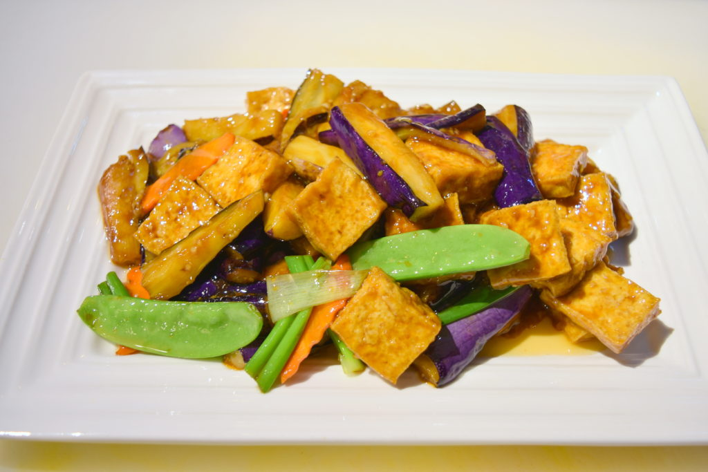112. Eggplant w/ Deep Fried Tofu 茄子豆腐