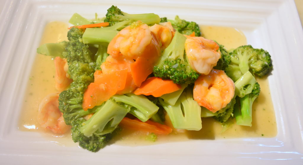 99. Vegetable Prawns 素菜蝦