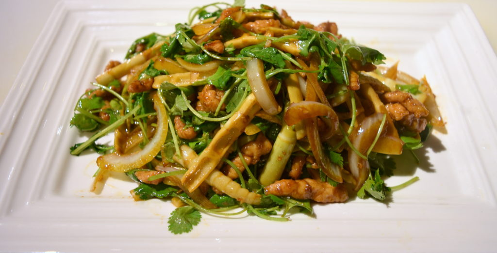 70. Pan Fried Shredded Pork w/Cilantro 小炒肉絲